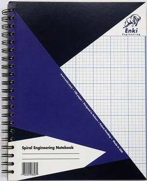 Enki Engineering Spiral Notebook