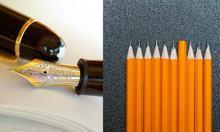 pencil vs pen