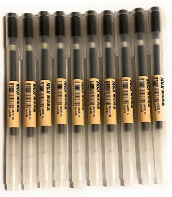 Muji Ball Point Pens, 0.38-mm, Black