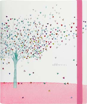 Peter Pauper Press Tree of Hearts Large Address Book