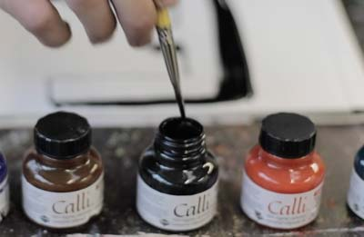 Making Calligraphy Ink
